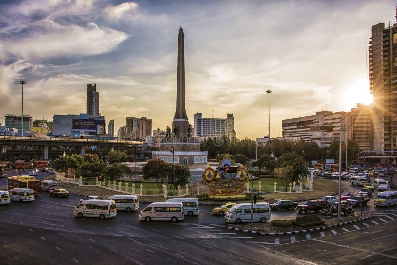 Overwinningsmonument in Bangkok royalty-vrije stock afbeeldingen