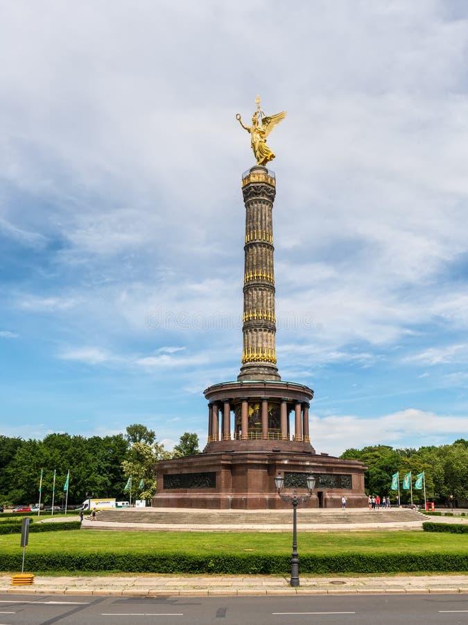 Overwinningsmonument Siegessauele in Berlijn, Duitsland stock afbeelding
