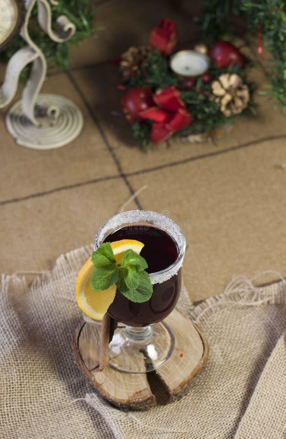 Overwogen wijn, hete wijn royalty-vrije stock afbeelding