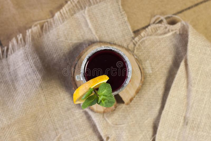 Overwogen wijn, hete wijn stock fotografie