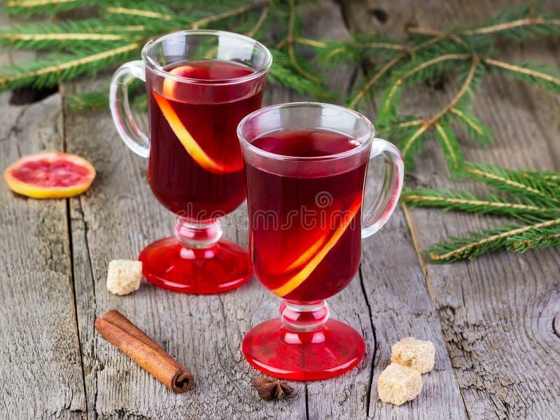 Overwogen wijn van rode wijn stock afbeelding