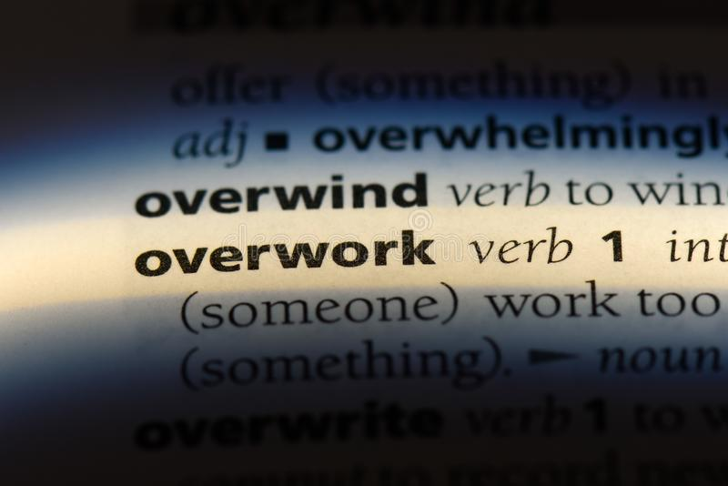 overwork fotografie stock libere da diritti