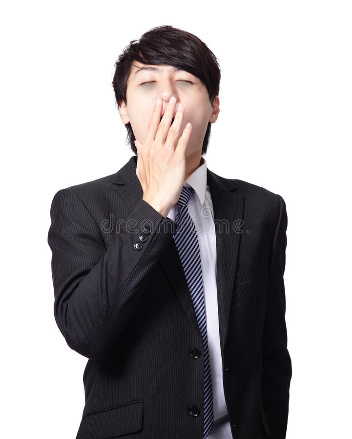 Download Overworked Business Man Yawning Stock Image - Image: 28780329