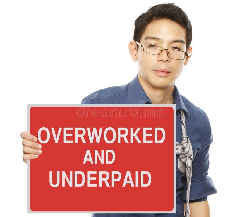 Overworked e mal pago fotos de stock