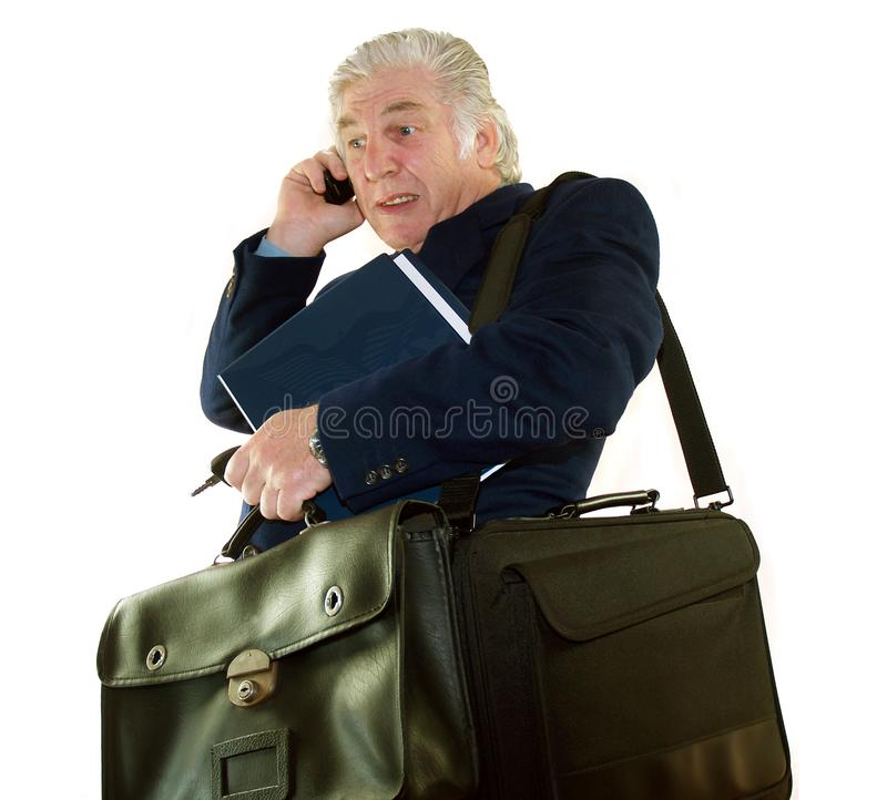 Overworked Executive stock image