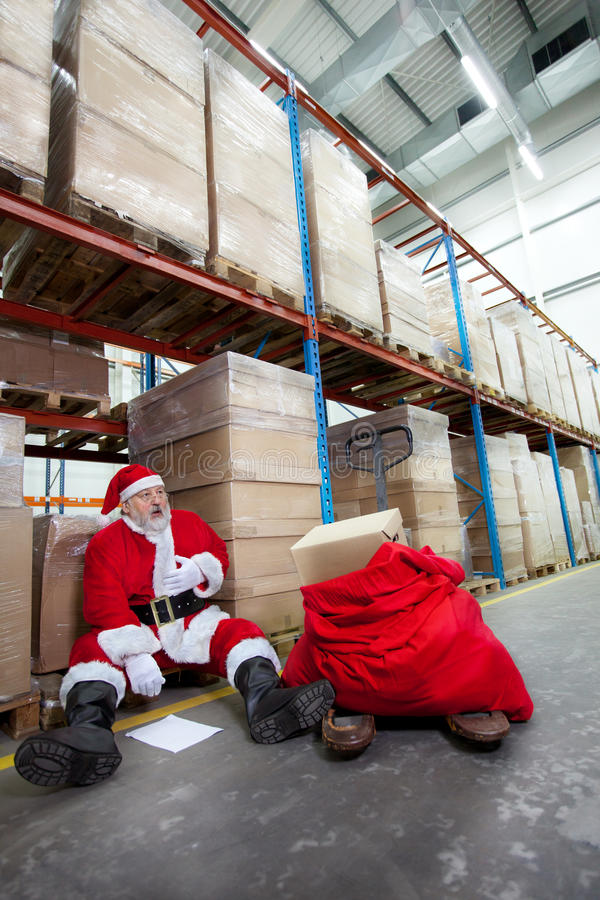 Download Overworked Santa Claus With Pain In Chest Stock Image - Image of consumption, choice: 17243997