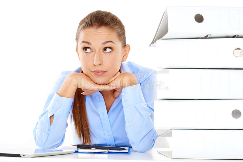 Download Overworked Stressed Businesswoman Royalty Free Stock Photography - Image: 33780247