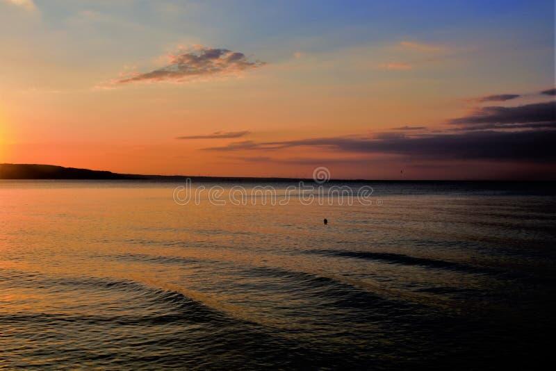overzees †‹â€ ‹bij zonsopgang royalty-vrije stock afbeelding