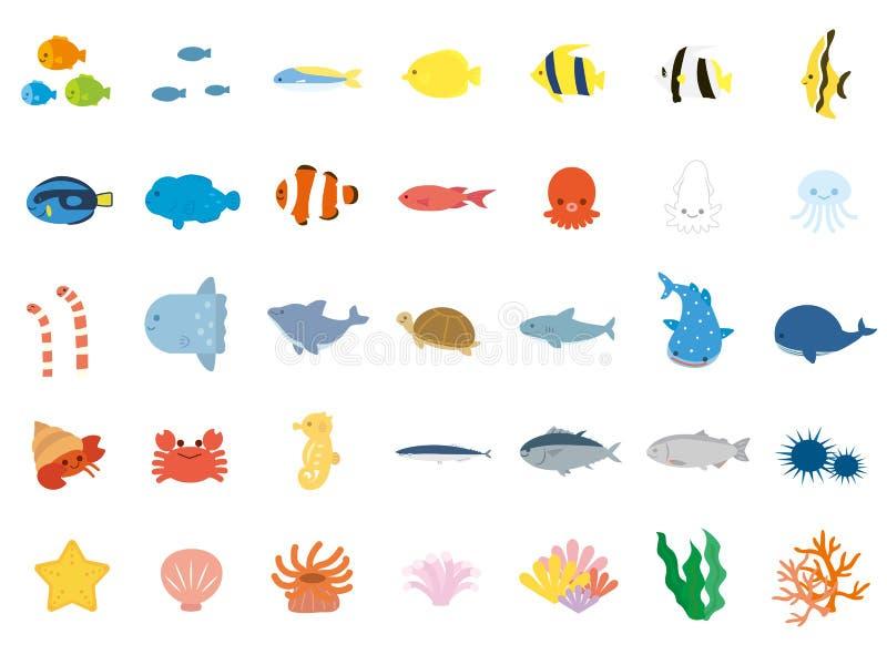 Overzees animals4 stock illustratie