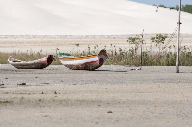 Overzees eilandstrand stock fotografie