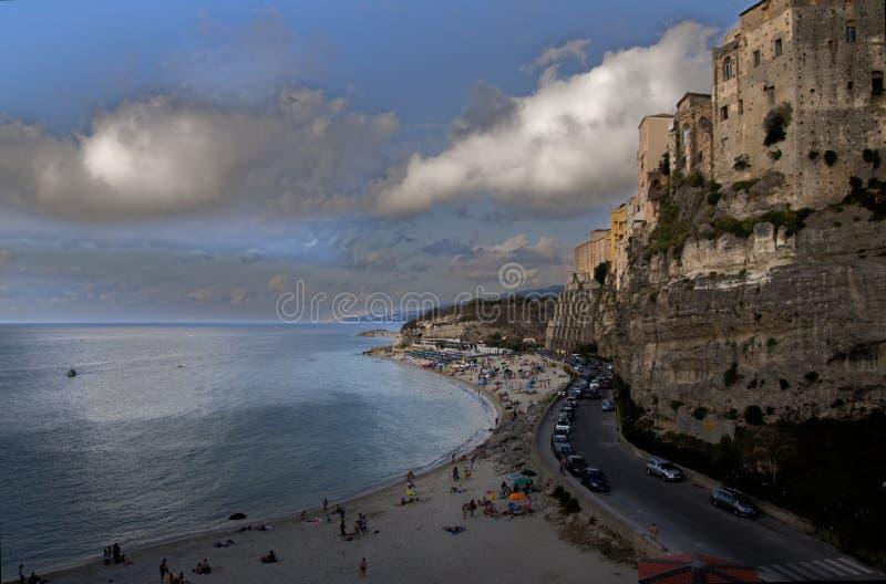 Overzees en prachtige kustlijn stock foto
