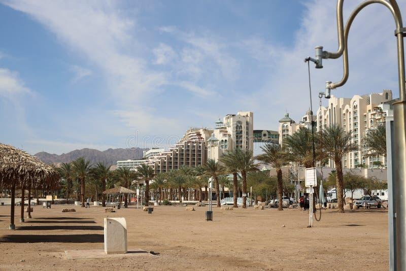 Overzees en Strand, Hotels stock afbeeldingen