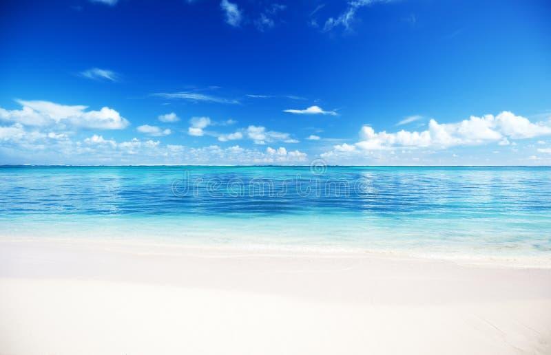 Overzees en zand stock afbeelding