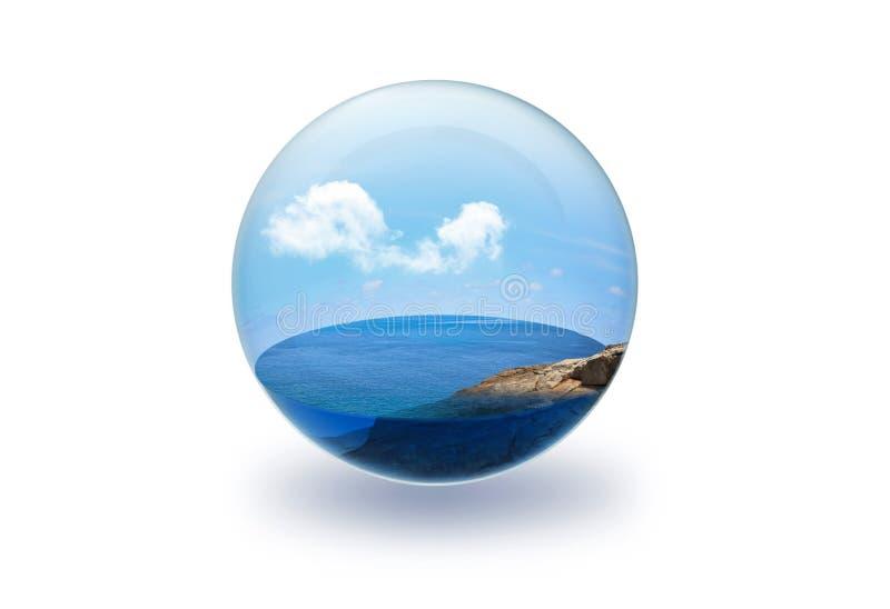 Overzees in Glas vector illustratie
