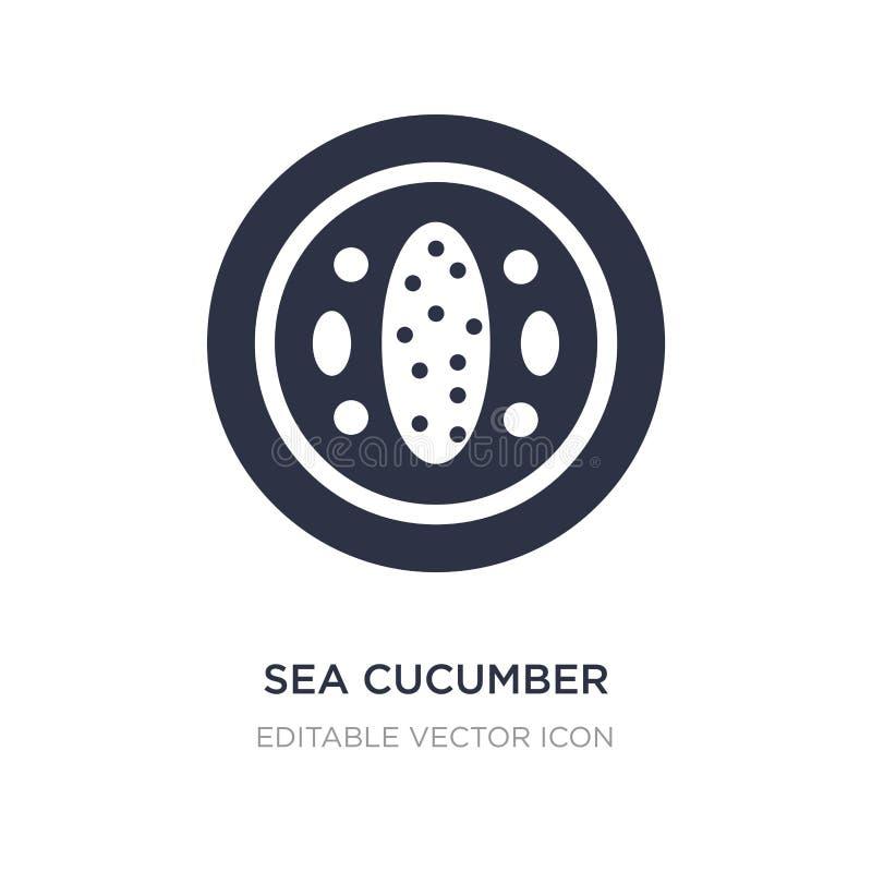 overzees komkommerpictogram op witte achtergrond Eenvoudige elementenillustratie van Voedsel en restaurantconcept royalty-vrije illustratie