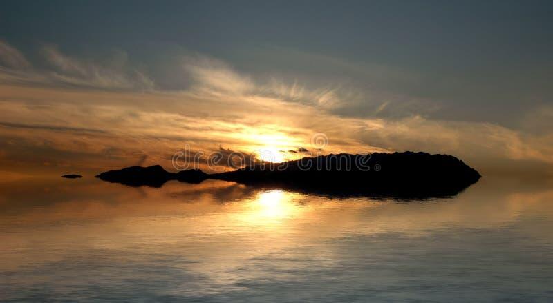 Overzees landschap stock foto