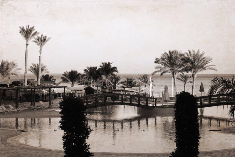 Overzees landschap, Egypte, Sharm el-Sheikh royalty-vrije stock afbeeldingen
