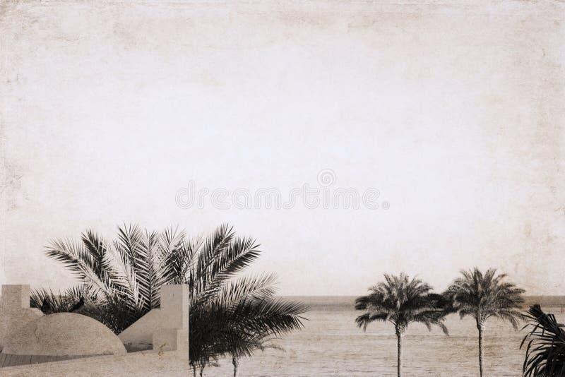 Overzees landschap, Egypte, Sharm el-Sheikh royalty-vrije stock foto