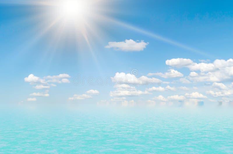 Overzees landschap en clouds.2 stock fotografie