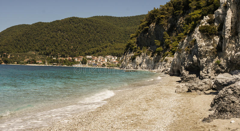 Overzees landschap in Griekenland stock foto's