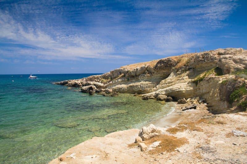 Overzees landschap Griekenland, Kreta royalty-vrije stock foto's