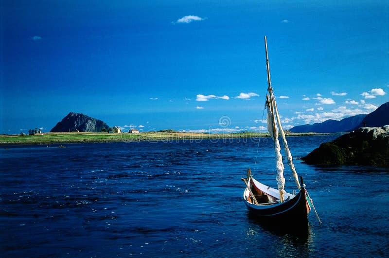 Overzees landschap Noorwegen stock foto's