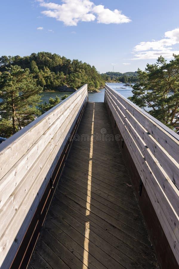Overzees in Mandal in Noorwegen stock afbeelding