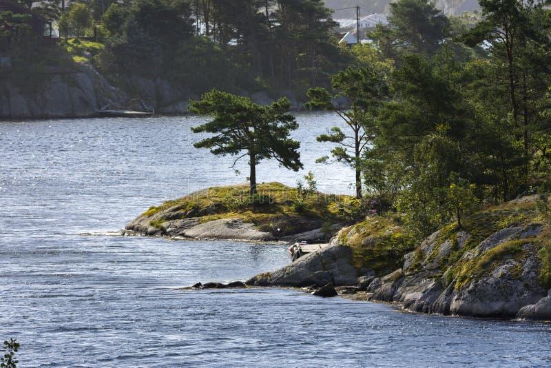 Overzees in Mandal in Noorwegen stock fotografie