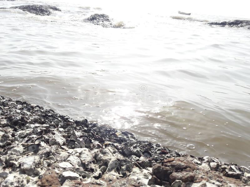 Overzees in Mumbai stock foto