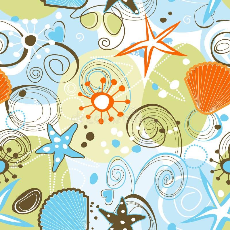 Overzees naadloos patroon vector illustratie
