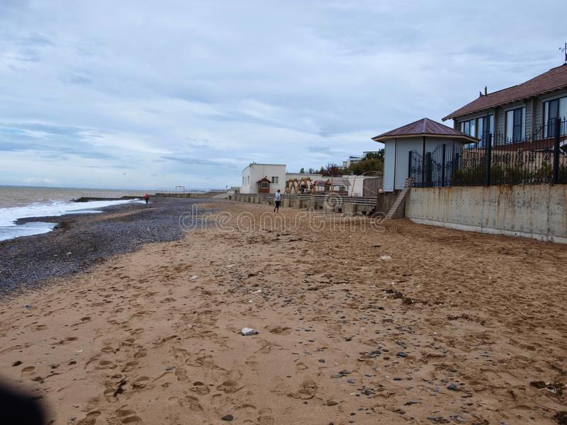 Overzees in Saki, de Krim stock foto's