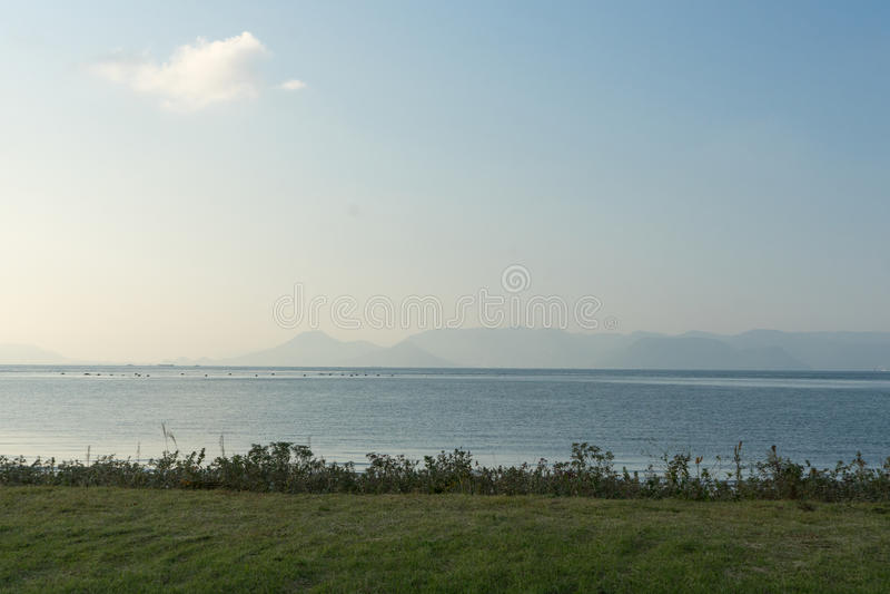 Overzees Scape bij Naoshima-Eiland stock fotografie