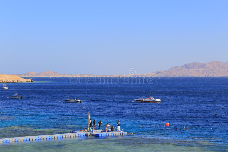 Overzees in Sharm el Sheikh stock foto's