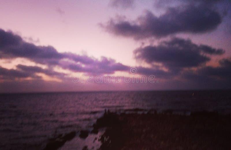 Overzees &Sky royalty-vrije stock afbeelding