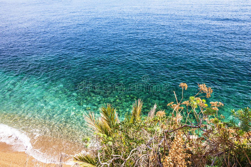 Overzees strand, van de overzeese het landschap de zomeraard royalty-vrije stock foto