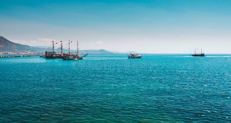 Overzees in Turkije Turkse kustvakantie in Turkije royalty-vrije stock afbeeldingen