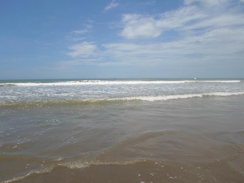 Overzees van Bazar van Cox langste strand van de Wereld royalty-vrije stock afbeeldingen