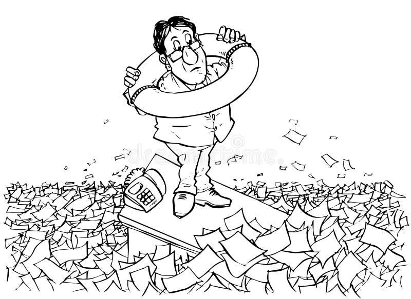 In overzees van bureaucratie stock illustratie
