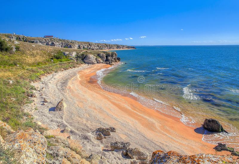 Overzees van de kust van Azov stock foto's