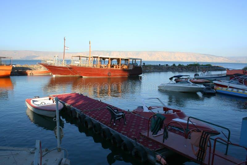 Overzees van Galilee (Kineret-meer), Israël stock fotografie