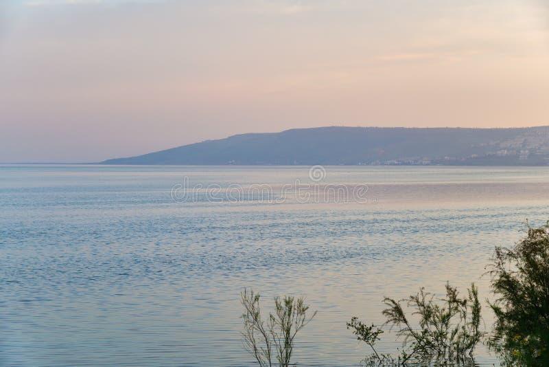 Overzees van Galilee, Meer Tiberias isra?l stock foto