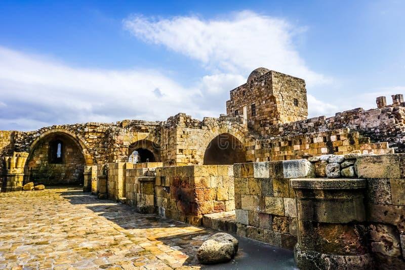 Overzees van Sidonkruisvaarders Kasteel 10 royalty-vrije stock foto