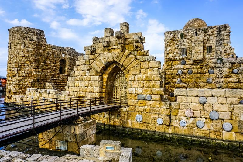 Overzees van Sidonkruisvaarders Kasteel 16 royalty-vrije stock foto's