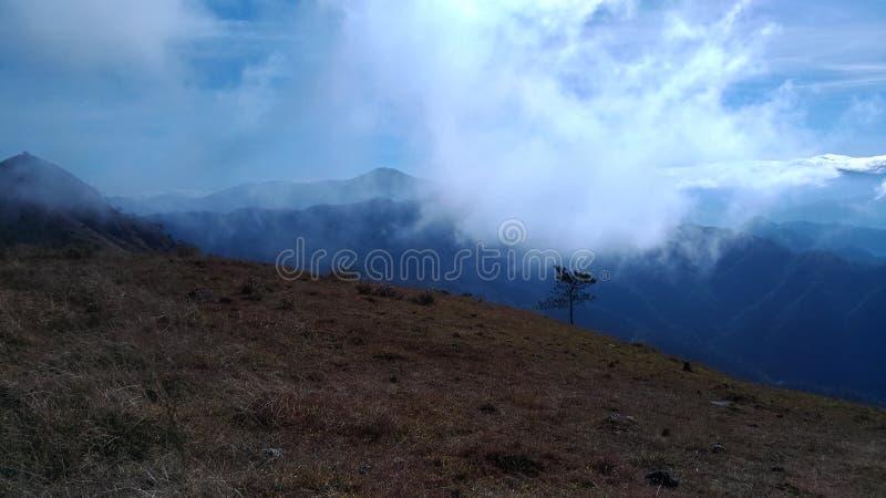 Overzees van wolk royalty-vrije stock fotografie