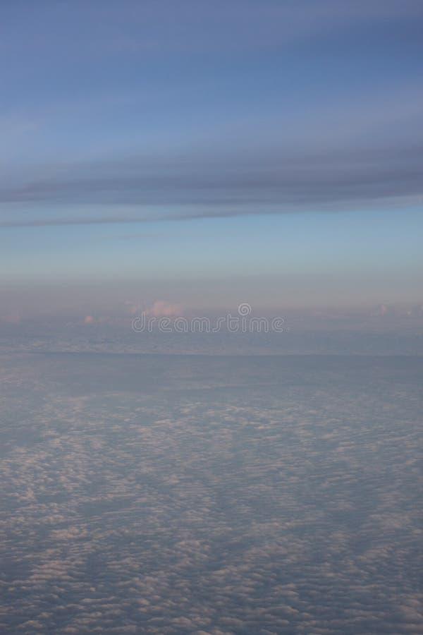 Overzees van wolken stock afbeeldingen