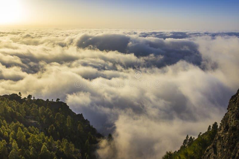 Overzees van wolken royalty-vrije stock fotografie