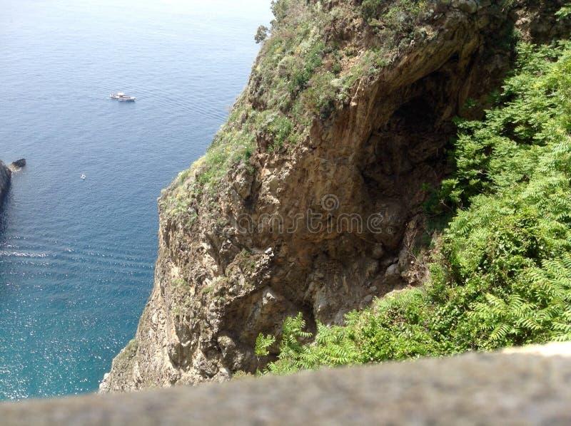 Overzees van zuidelijk Italië op de Amalfi kust royalty-vrije stock foto's