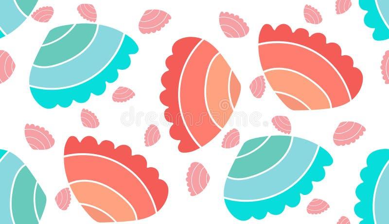 Overzees vector naadloos patroon stock illustratie