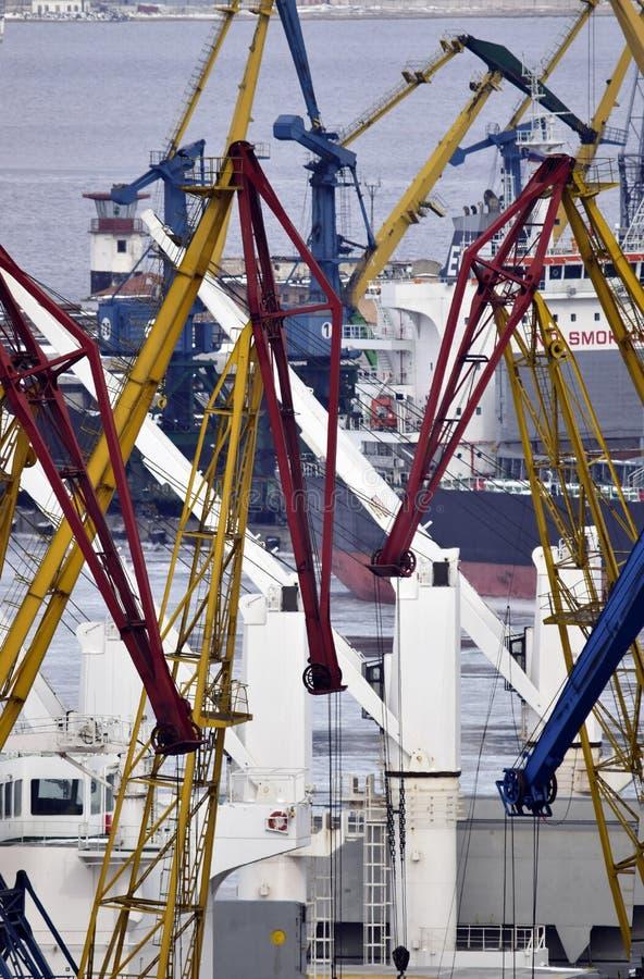 Overzees vervoer van lading stock foto
