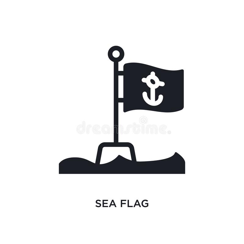 overzees vlag geïsoleerd pictogram eenvoudige elementenillustratie van zeevaartconceptenpictogrammen van het overzeese ontwerp va stock illustratie